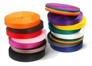 25mm Webbing Rolls Polypropylene 450kg Straps and Lashing Choice of Colour