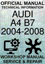#OFFICIAL WORKSHOP MANUAL SERVICE & REPAIR AUDI A4 B7 2004-2008