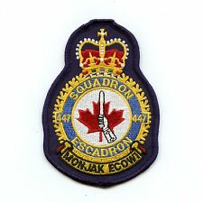 RCAF CAF Canadian 447 Squadron Heraldic Colour Crest Patch