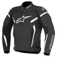 Alpinestars GP Plus R v2 Leather Sports Motorcycle Motorbike Jacket Black White