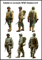 1/35 US Ranger Sergeant WW2 Soldier Figure Unpainted Unassembled Resin Kit