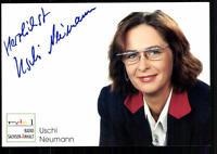 Uschi Neumann MDR Autogrammkarte Original Signiert ## BC 24581