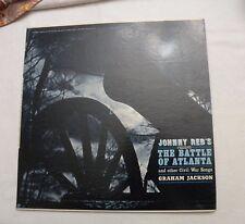 LP, Graham Jackson, Johnny Reb's Battle of Atlanta..Civil War Songs RARE SIGNED!