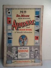 Antique 1931 Dr. Miles Nervine New Weather Almanac & Hand Book