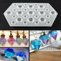 DIY Diamond Silicone Mould Jewelry Pendant Resin Casting Making Craft Molds Kit