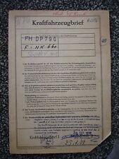 Audi NSU Variant N 75 PS 1,7 Ltd 1970 5-Sitzer Datenblatt Brief FF