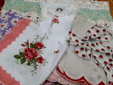 Vintage Vanity Hanky Handkerchief Bag With Vtg Hankies