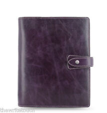 Filofax Malden Organizer A5 - Purple Leather - 025851 - 2017 diary - brand new