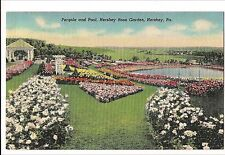 Hershey Pa Rose Garden and Pergola and Pool Postcard Linen Vintage Post Card