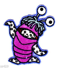 """1.5"""" Disney monsters inc boo alien fabric applique iron on character"""