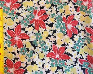 Vintage cotton fabric 1930s/1940s.Gorgeous!