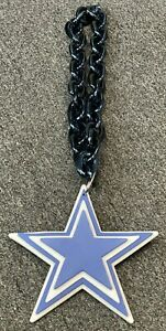 NFL Dallas Cowboys 3-D Magnet LOGO MAN CAVE Fan Chain Necklace Display Sign New