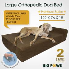 Memory Foam Dog Bed Large Orthopedic Dog Beds Mattress Bolster Waterproof