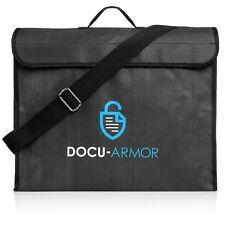 Docu Armor Lockable Fireproof Waterproof Document Storage Bag Size 16x12x4''
