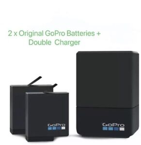 Genuine GoPro Dual Battery Charger+2xBattery Hero5,6,7,8 Black Official Access