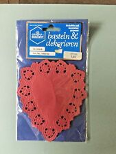 New German Small Red Paper Doilies Basteln & Dekorieren 16ct Unique Gorgeous