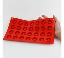 Moule 100% silicone platine 28 bouchées rondes - Pavonidea