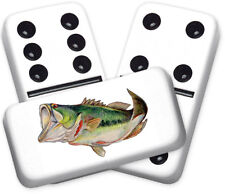 Wildlife Series Bass Design Double six Professional size Dominoes