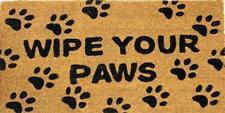 Wipe Your Paws Doormat Front Door Welcome Mat Coconut Fibre Rubber Home 90x45cm