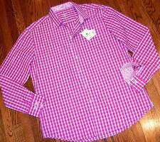 BUGATCHI UOMO AUTHENTIC MENS NEW SHAPED FIT PINK DRESS SHIRT Sz L ( LARGE ), NWT