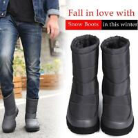 Outdoor Ski Shoes Women Men's Snow Ankle Boots Winter Fur Lined Waterproof Warm