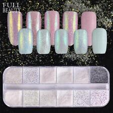 12 Type/box Dazzling Unicorn Nail Glitter Dust Mermaid Effect Ab Colorful Sugar