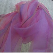 Set of 3- Shades of Pink, Organza Oblong Scarves
