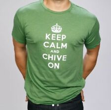 Keep Calm And Chive On Graphic Tee Green Mens XL