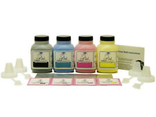 4 InkOwl COLOR Toner Refill Kit for HP CE320A CE321A CE322A CE323A 128A