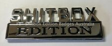 SHITBOX EDITION BADGE - ALL METAL - Fund Raising for the Cancer Council