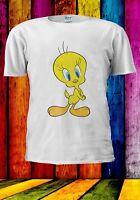 Tweety Bird Yellow Canary Cute Sweet Cartoon Men Women Unisex T-shirt 2922