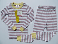 Hanna Andersson 100 110 120 130 140 Girls Pajamas Long John Organic NEW Purple