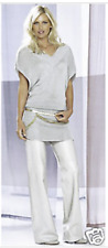 """WHITE Leather lo-rise flare jeans (""""PEARL"""") - size USA 10 - NEW - LAST PAIR"""
