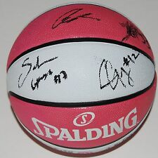 2017 Los Angeles Sparks team signed *Breast Cancer* Pink Wnba basketball W/Coa