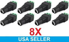 8x Power Screw Pin Terminal Connector to DC 2.1 x 5.5mm Female Jack Plug Adapter