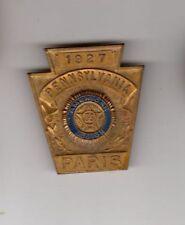 Original WWI Pennsylvania Veteran Medal PB Badge Paris France America 1917 -1927