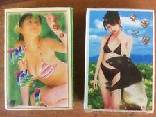 Lot of Two Decks Asian Pin Up Bikini Girl Erotic Playing Cards Bizarre Kitsch