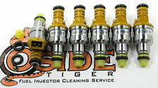 1988-92 BMW 735il Fuel Injectors Genuine Direct Replacement Bosch 4-Hole Spray!
