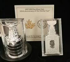 1892-2017 Stanley Cup 125th Anniversary $50 3.2OZ Pure Silver Proof Coin Canada