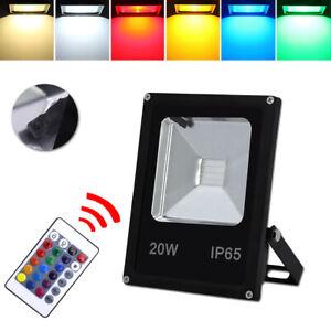 Fernbedienung Dimmbar 10X 30W LED Fluter RGB Farbwechsel IP67 Außen Flutlicht