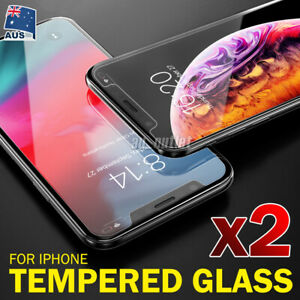 For Apple iPhone 11 Pro Max XS Max XR X SE - 2x Tempered Glass Screen Protector