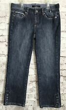 Noir Jeans Cropped Capri Denim Women's Size 4 A40