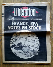 RARE EO LIBÉRATION DU 5/6 MARS 1983 N° 558 SPÉCIAL MORT DE HERGÉ TINTIN EST MORT