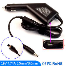 Laptop DC Adapter Car Charger Power for Samsung NP-R540-JS01PL NP-R540-JS02AT