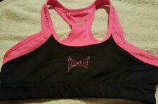 WOMENS TAPOUT  Sports Bra Sz Small Black / Hot Pink Athletic