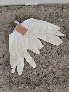 Large Garden Gardener Gardening Gloves Yard Nitrile Knit Wrist Blue Stripes