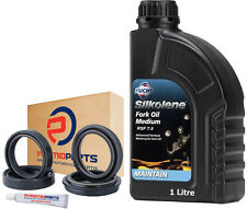 Daelim SQ 125 250 S2 Freewing 2005-2014 Fork Seals Dust Seals + Silkolene Oil