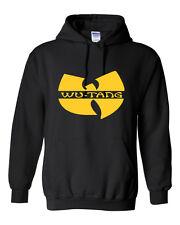 Wu Tang Clan HOODIE Yellow Logo Rza Gza H* Hop Unisex Hoodied Sweatshirt S-5XL