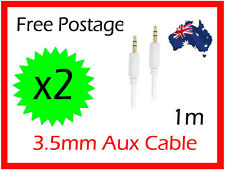 X2 3.5 mm to 3.5mm AUX Auxiliary Cable Cord for iPod iPhone MP3 Car Audio White