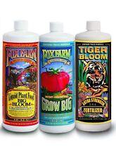 Fox Farm Hydroponic Trio Quarts - Big Bloom Hydro Grow Big & Tiger Bloom Qt 32oz